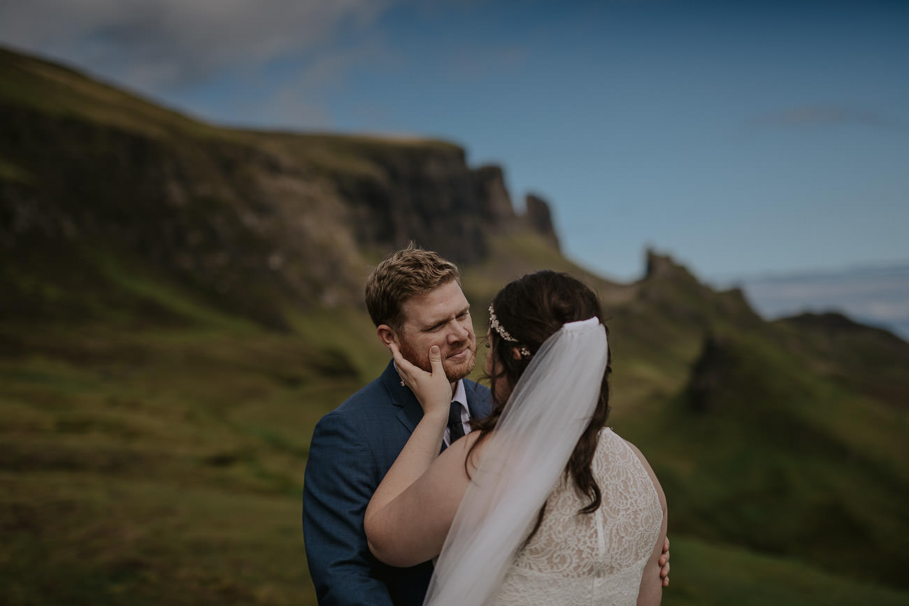 Destination Wedding Isle of Skye Quiraing Elopement Photos