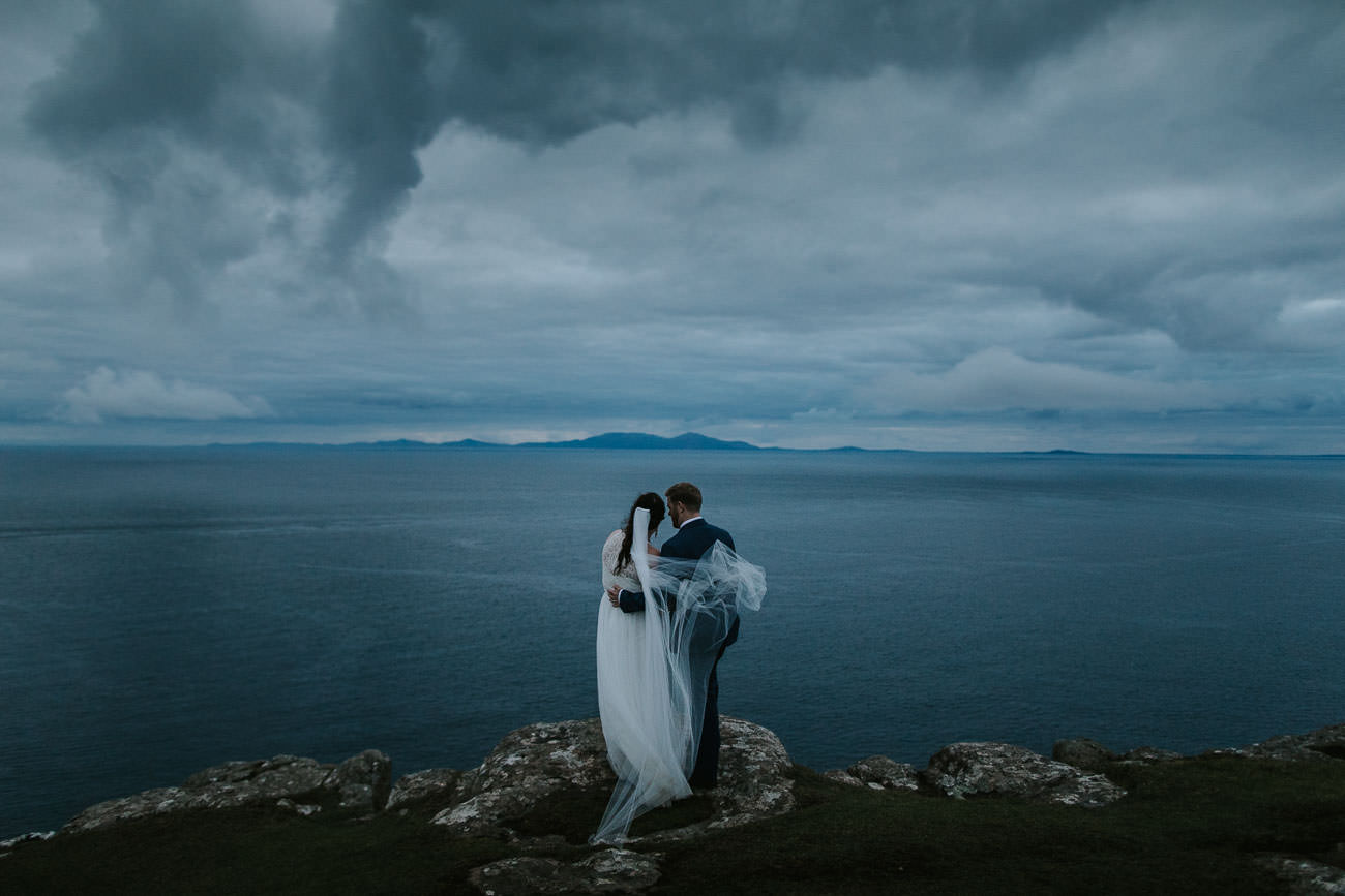 Destination Wedding Isle of Skye Neist Point Elopement Photos