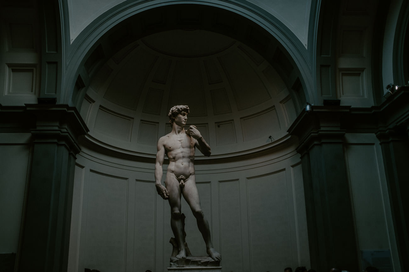 Statue of David Florence Italy Destination Wedding Photographer