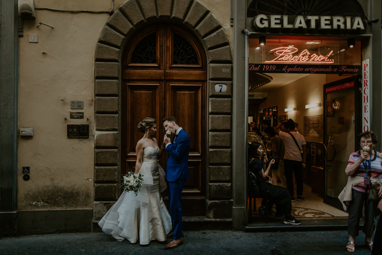 Gelato Wedding Photos in Florence Italy