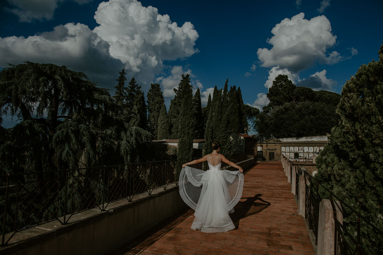 Florence Italy Destination Wedding Pictures of Bride