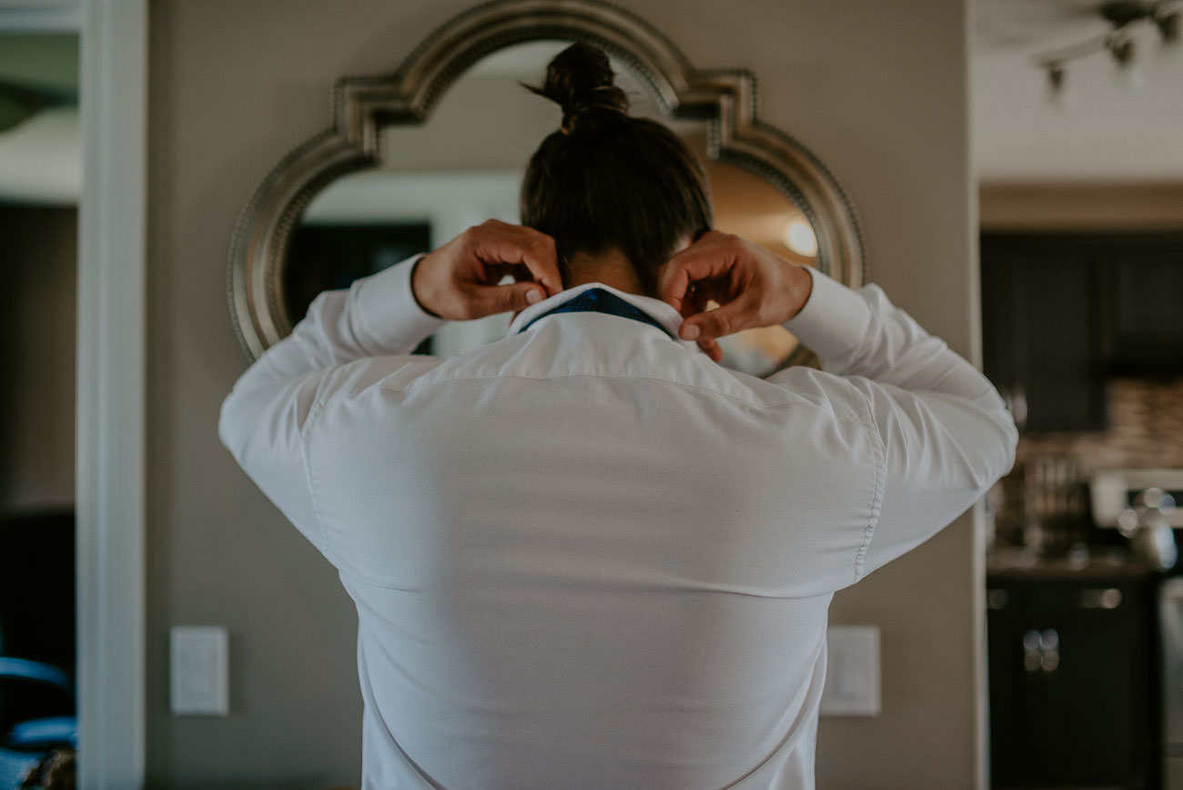 Boho Wedding Groomsmen Getting Ready - Edmonton Wedding Photographer
