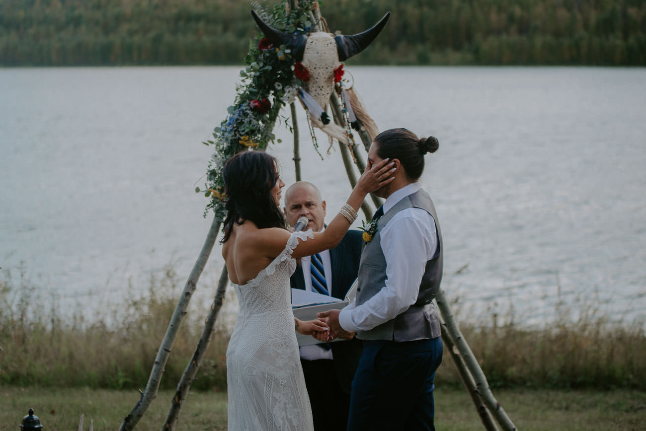 Outdoor Boho Wedding by the Lake - Edmonton Wedding Photographer