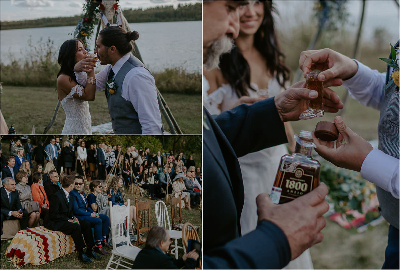 Eclectic Outdoor Wedding by the Lake - Edmonton Wedding Photographer