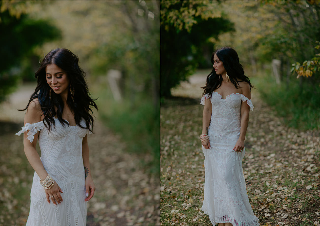 Gorgeous Wedding Dress - Beautiful Boho Bride - Edmonton Wedding Photographer