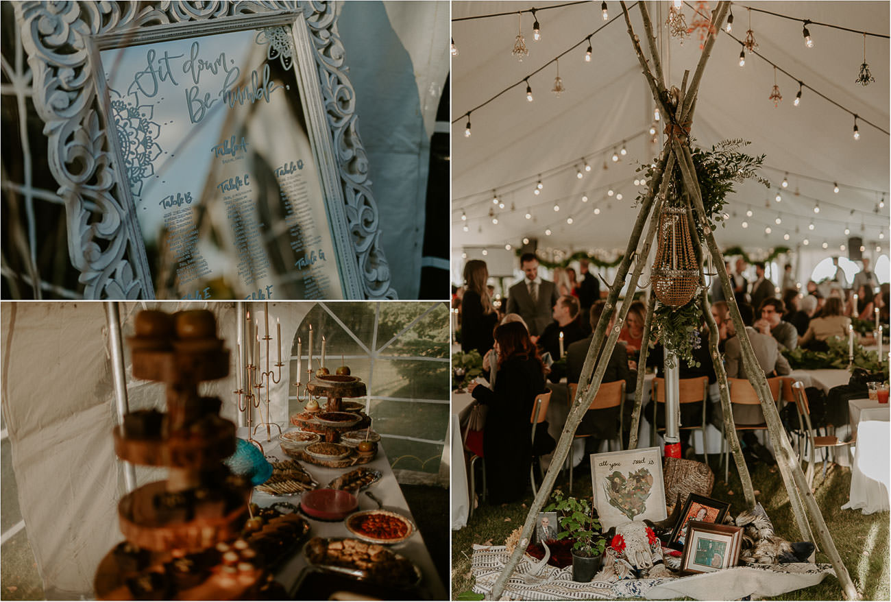 Boho Wedding Decor - Rustic Eclectic Wedding - Edmonton Wedding Photographer