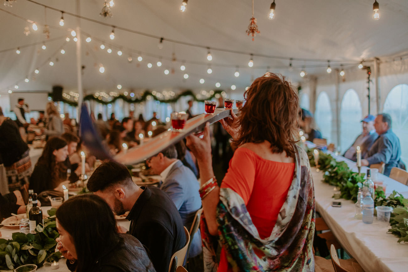 Boho Wedding Decor - Rustic Eclectic Wedding  - Shot Ski