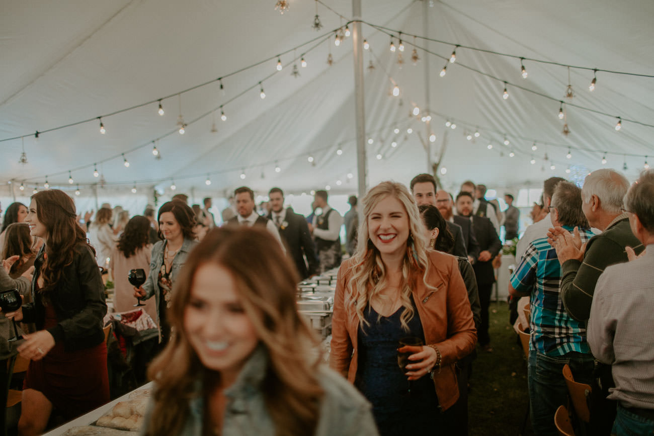 Boho Wedding Reception - Tent Wedding - Edmonton Wedding Photographer
