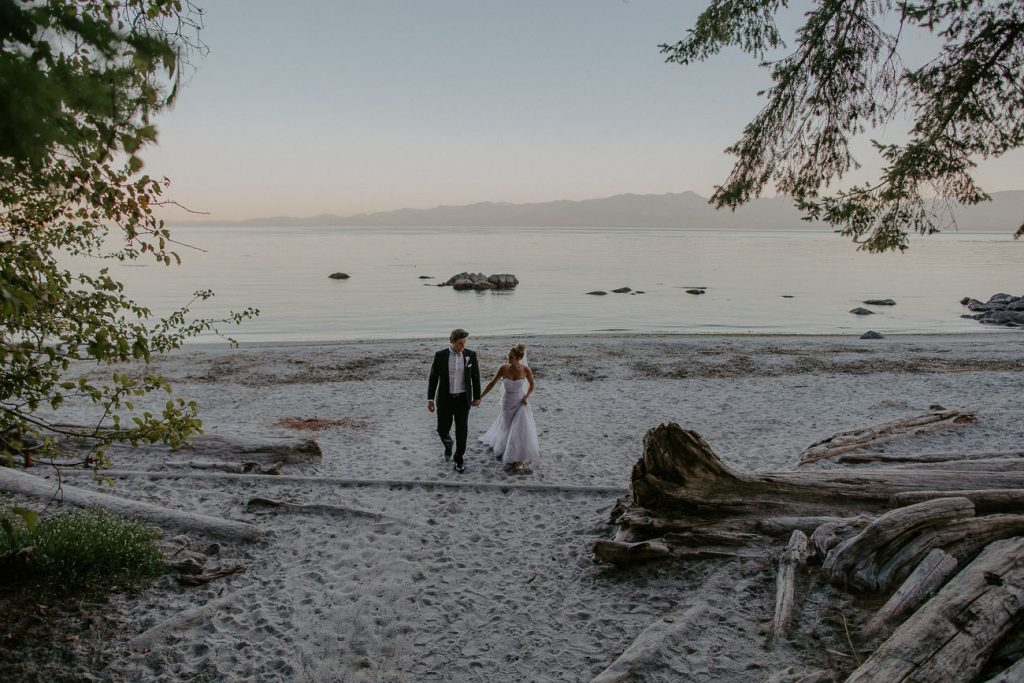 Romantic Beach Wedding Photos After Session Victoria Wedding Photographer
